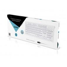 Клавиатура проводная Smartbuy мультимедийная Slim 206 USB белая (SBK-206US-W)