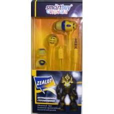 Наушники внутриканальные SmartBuy ZEALOT, син/желт (SBE-9320)