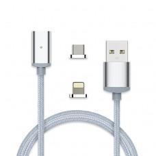 Кабель USB  магнитный iPhone 5/6/7+micro USB